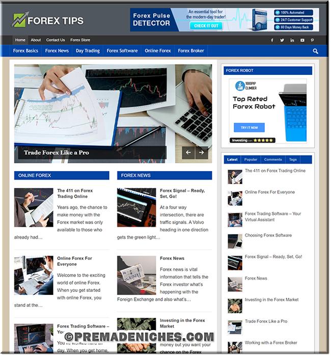 Forex Trading PLR Blog