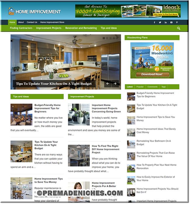 Home Improvement PLR Blog