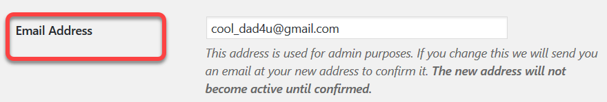 email address only