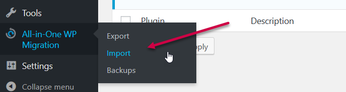 all in one import button