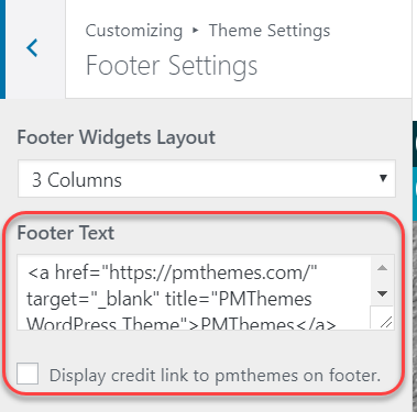 footer link