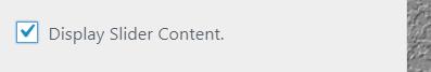 show slider content