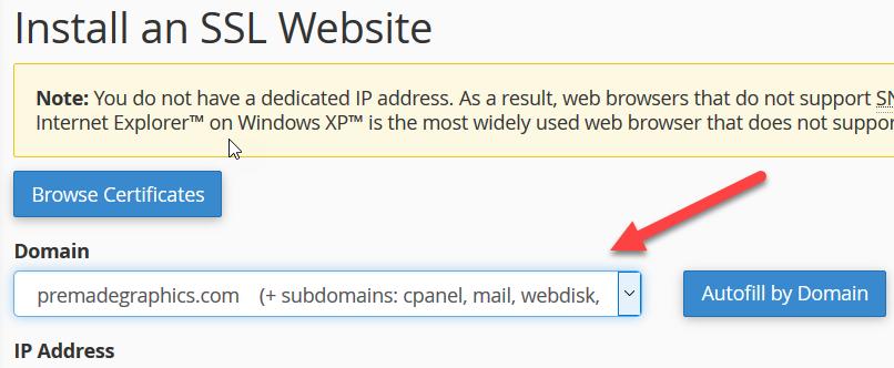 install an ssl website