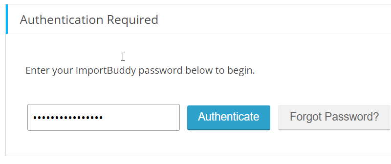 authenticate button