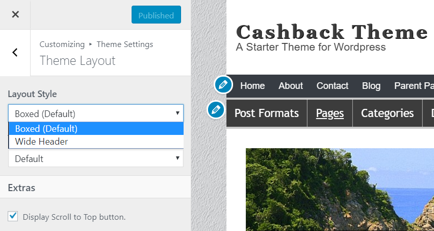 theme layout