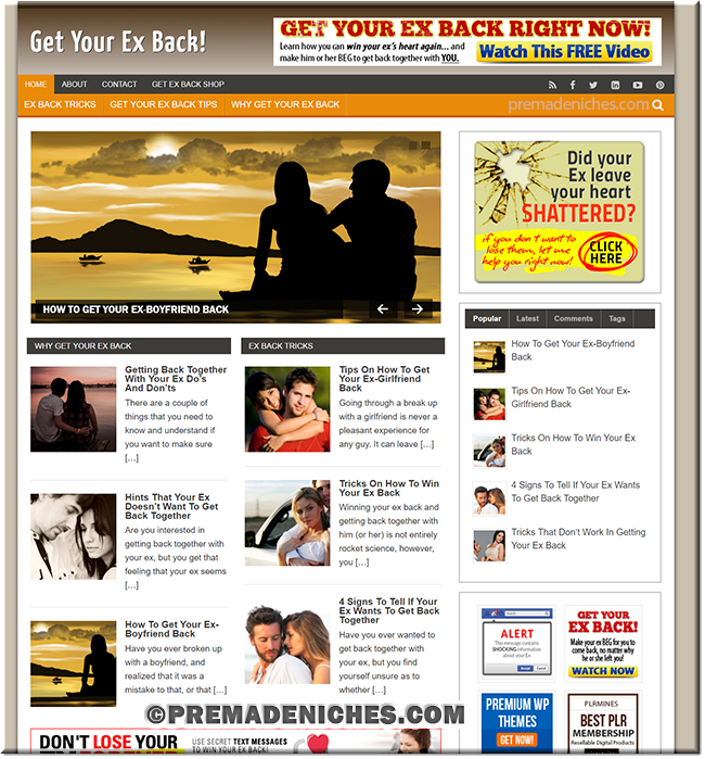 Get Your Ex Back Ready Made Blog