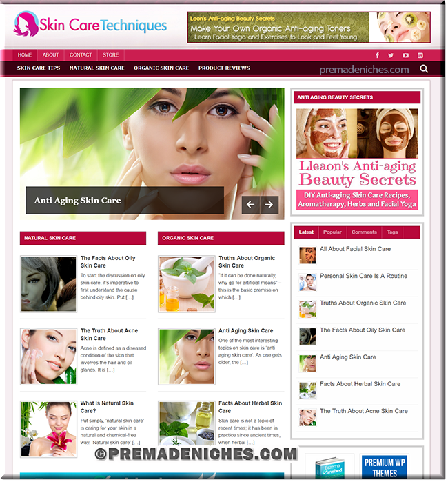 skin care plr blog package