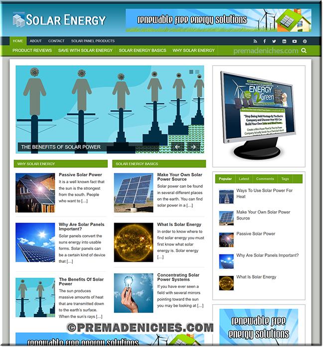 solar energy niche site