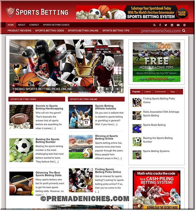 sports betting plr niche site