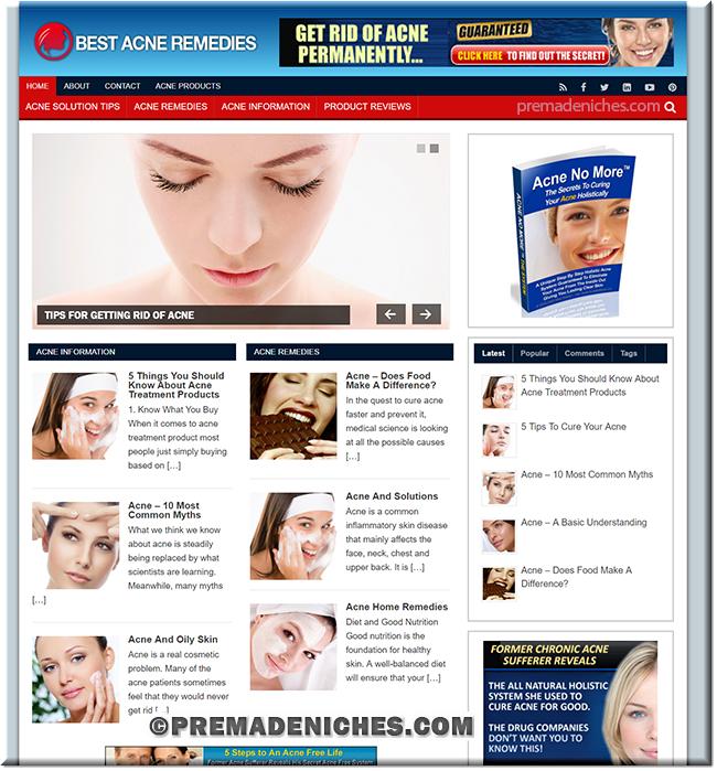 acne remedy turnkey website