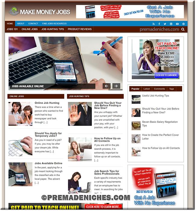 finding jobs turnkey website