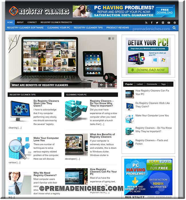 registry cleaners niche blog