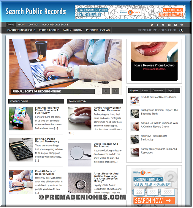 ready made blog on public records