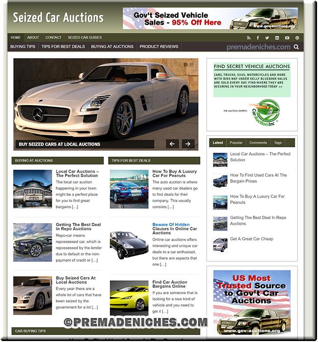 seized car acutions WordPress blog