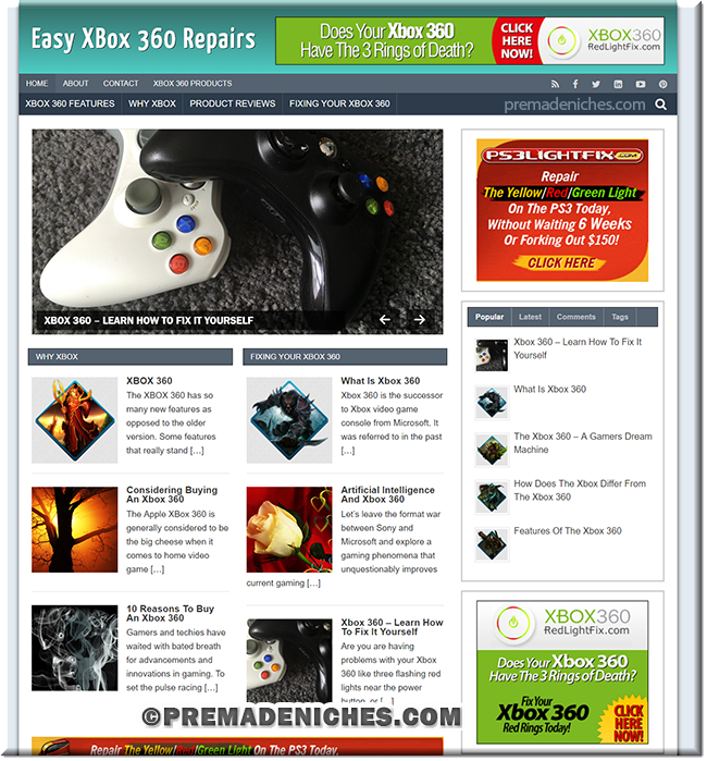 xbox 360 repair niche blog