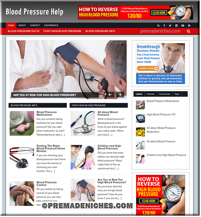 Blood Pressure PLR Niche Blog