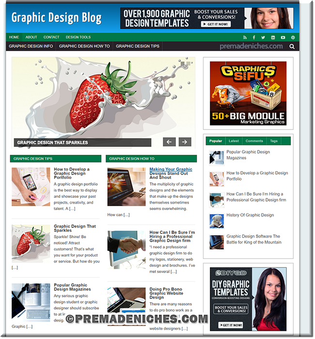 Graphic Design Niche WordPress Blog