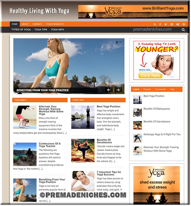 Yoga Niche Blog package