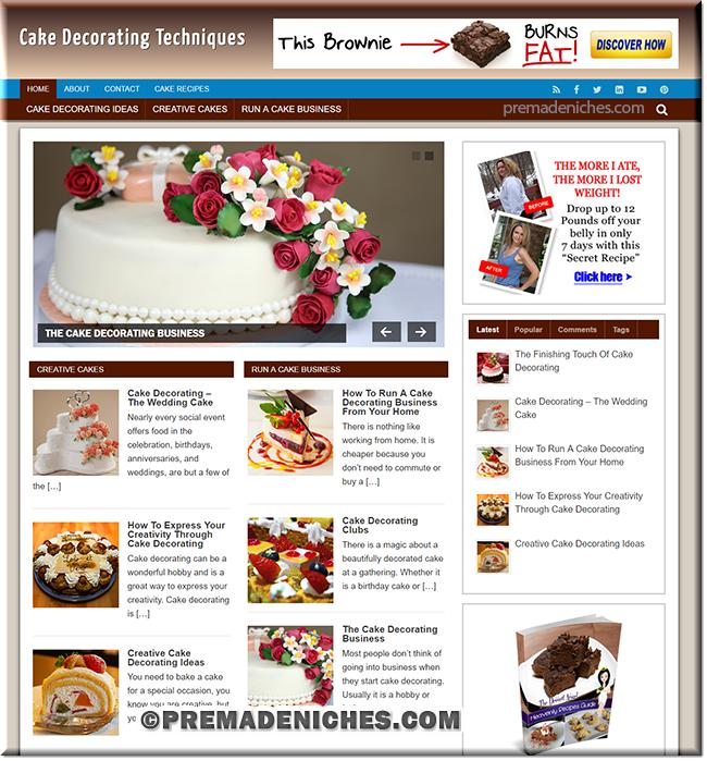 Cake Decorating Niche Blog