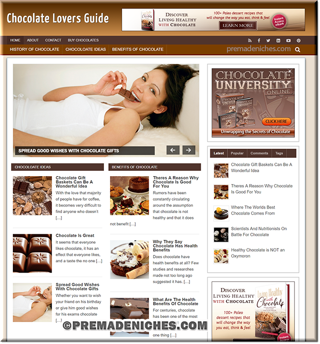 chocolate lovers PLR blog