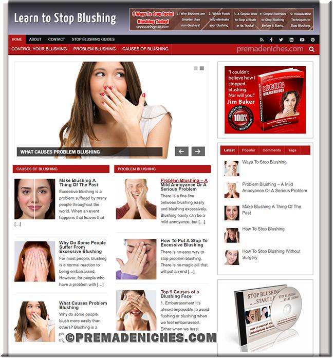 stop blushing niche site