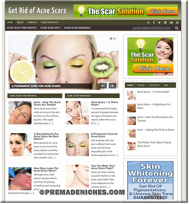 Acne Scars PLR Blog