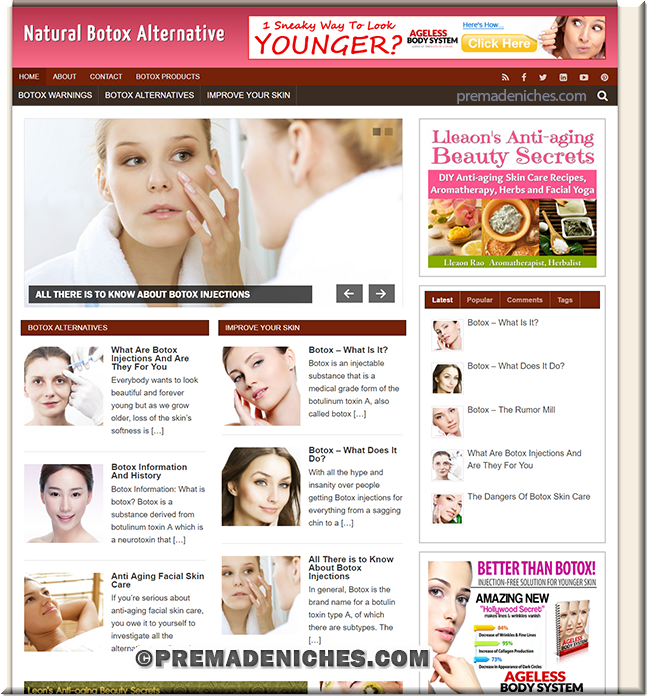 botox plr website