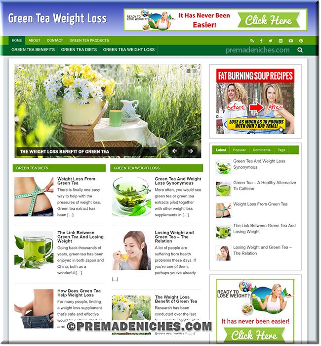 green tea weight loss blog