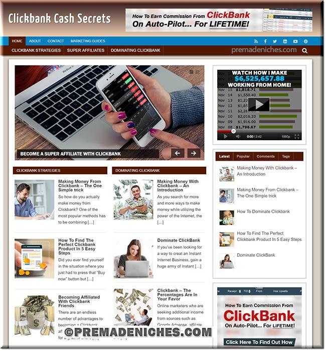 Clickbank Marketing Turnkey Website