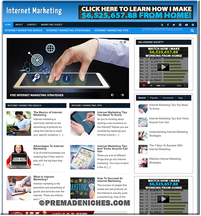 Internet Marketing Tips – Ready Made Blog with PLR