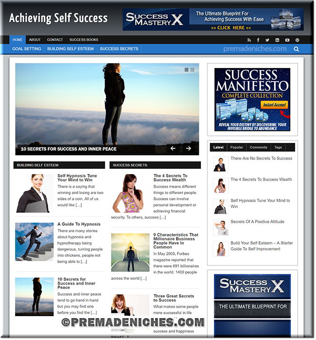 Self Success Ready Made Starter Website