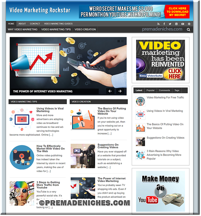 Video Marketing Pre Made Affiliate Blog
