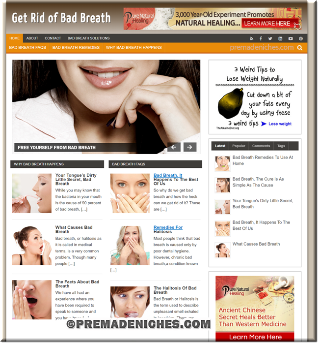 bad breath plr blog
