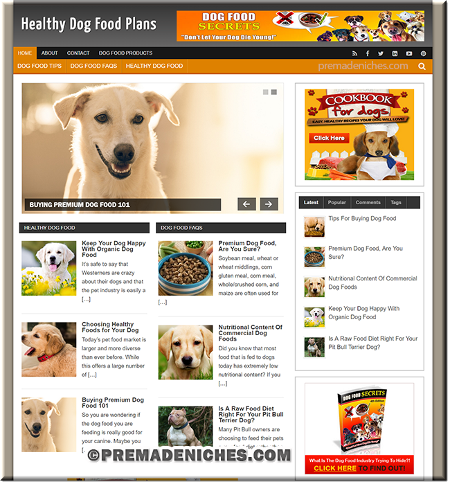 dog food plr blog