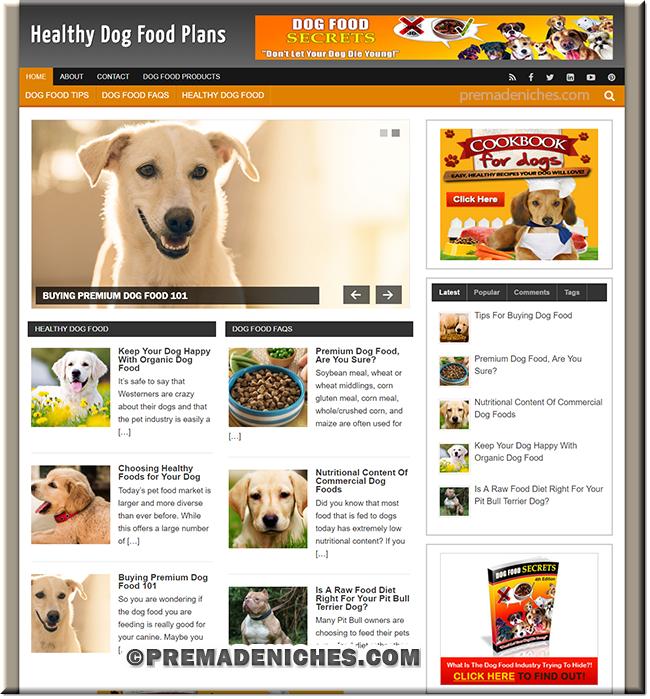 dog food plr blog