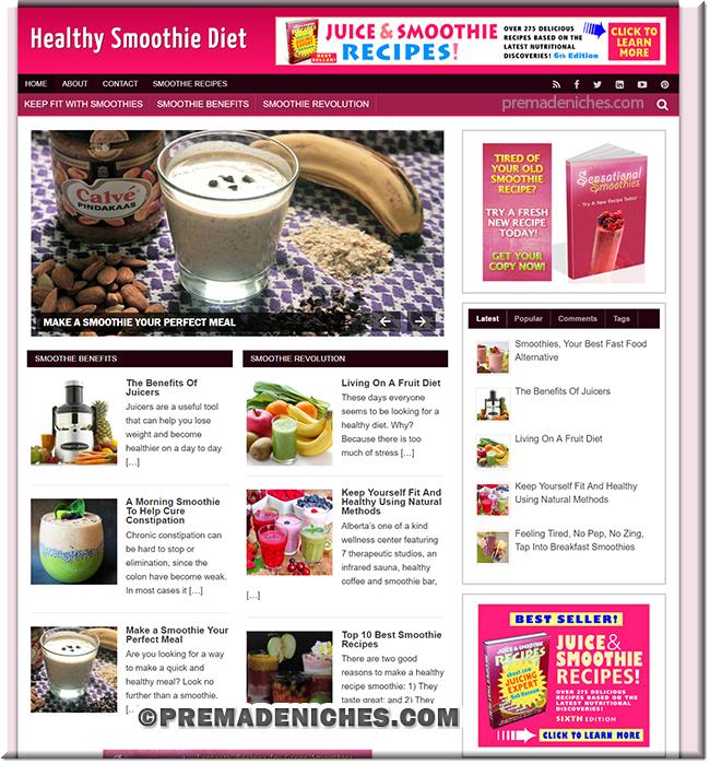 smoothie niche blog