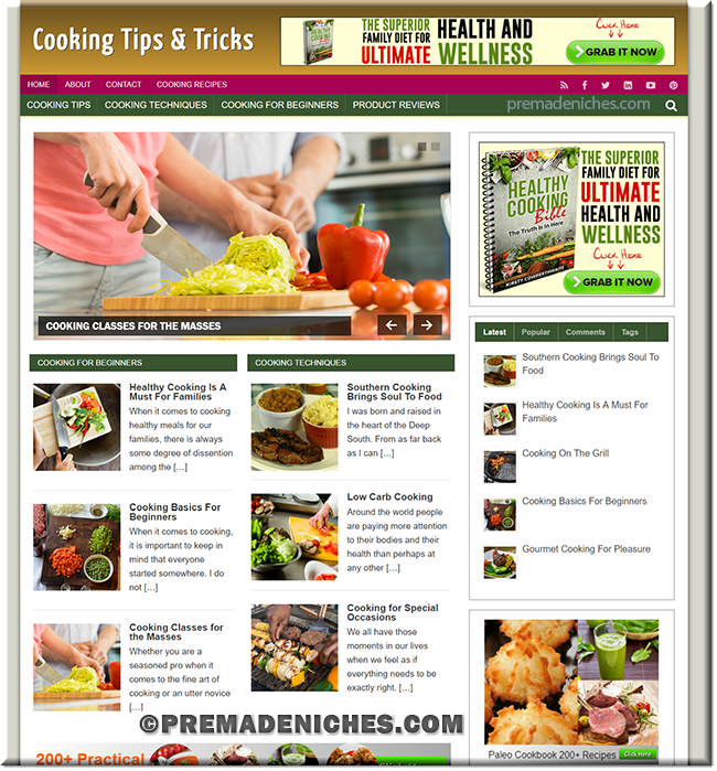 cooking niche blog