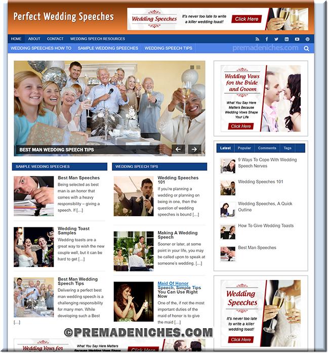 wedding speeches niche blog