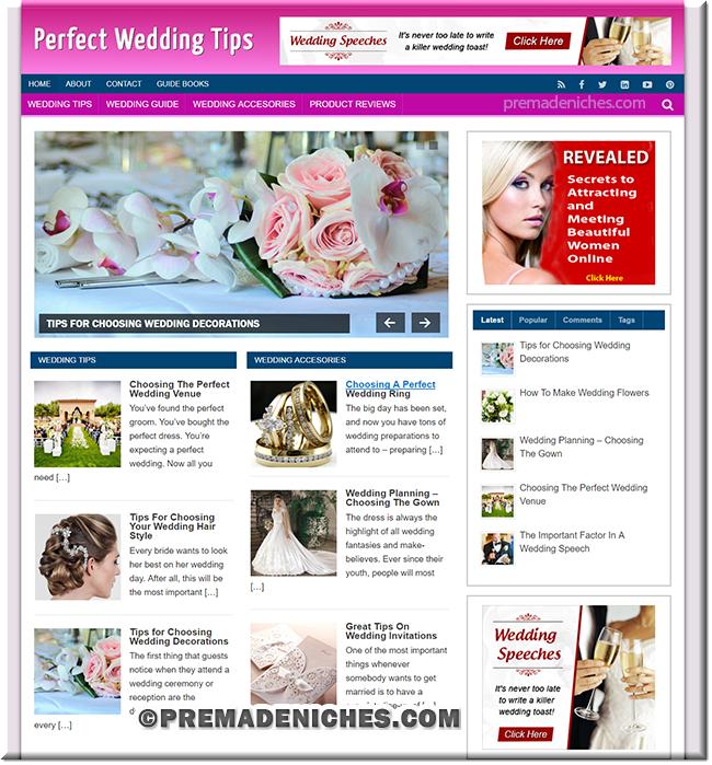 wedding tips plr blog