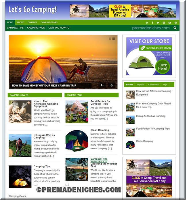 camping niche blog