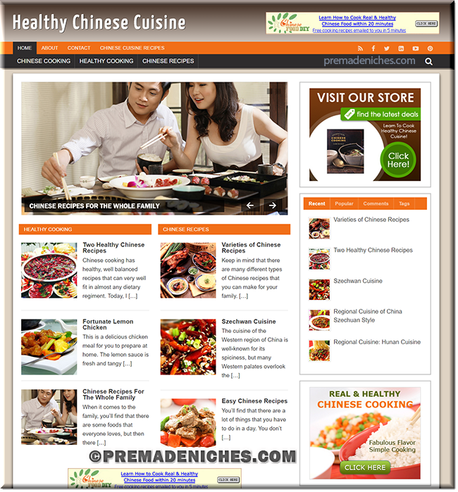 chinese cuisine ready made wordpress site