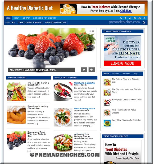 diabetic diet wordpress blog
