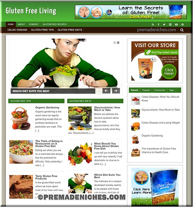 gluten free plr blog