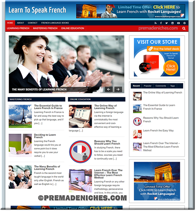 learn french ready made site