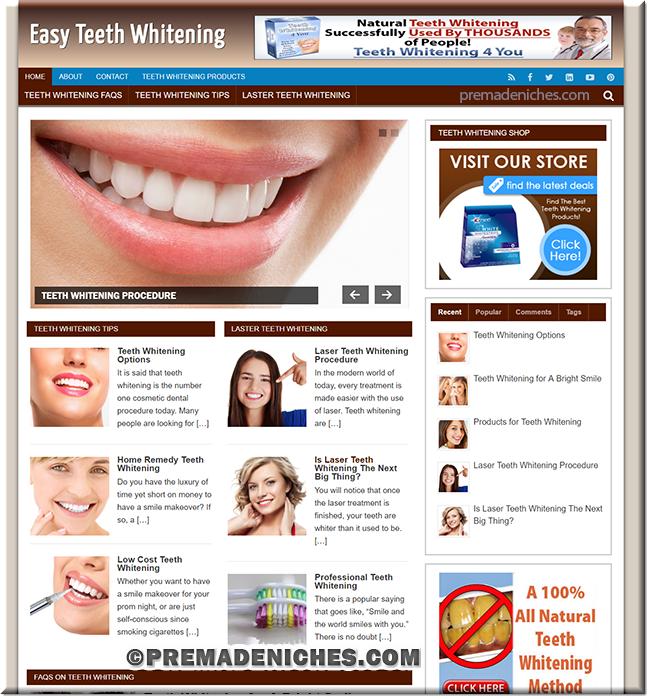 teeth whitening premade blog