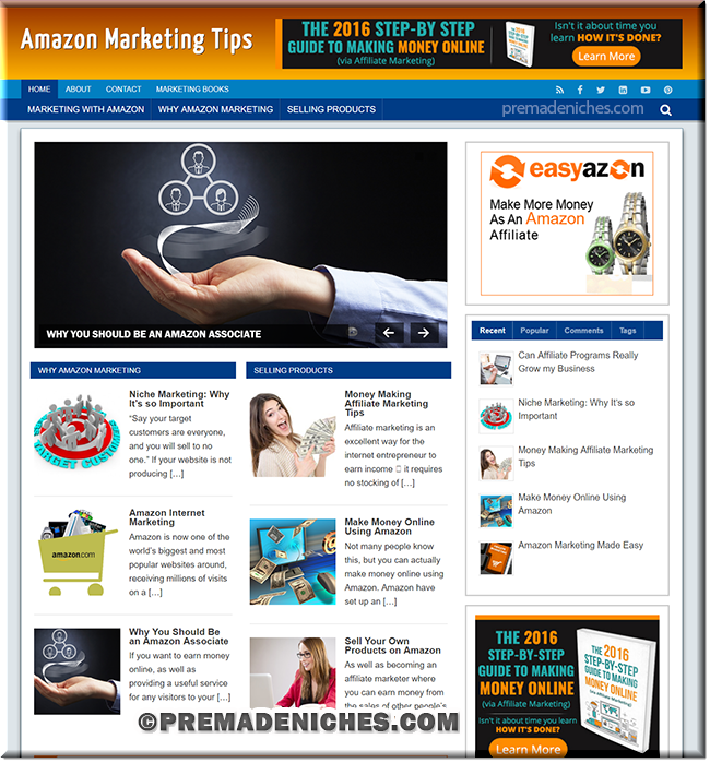 amazon marketing premium wordpress template