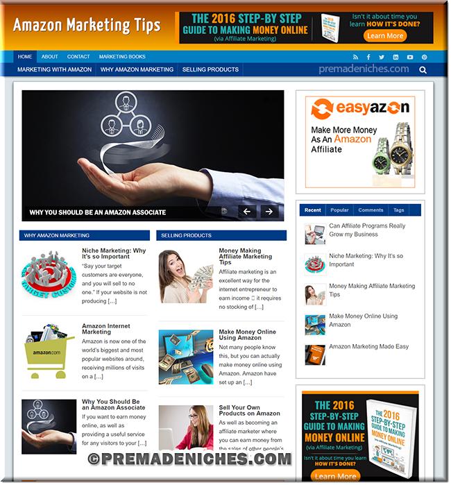 amazon marketing premium wordpress template