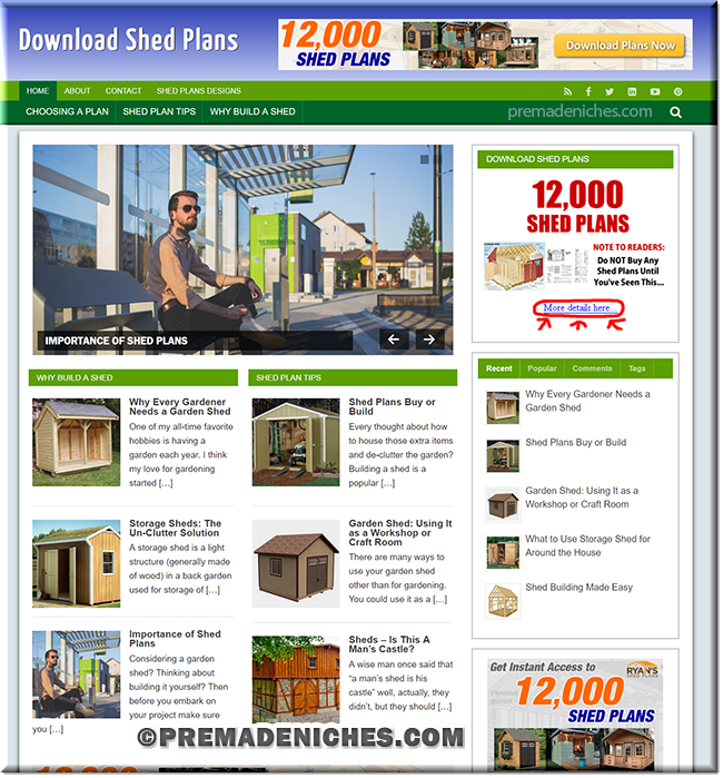 shed plans ready made WordPress blog