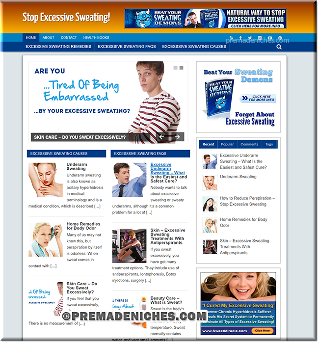 Excessive Sweating Turnkey Web Site