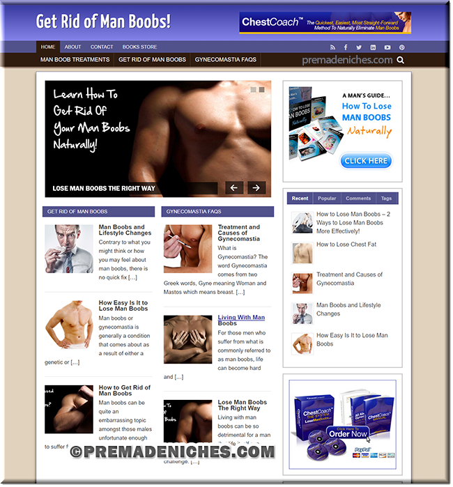 man boobs wordpress designed website